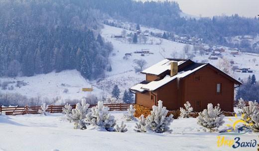 """Апарт-отель """"Вершина"""" зимой"""