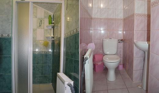 Душ и туалет